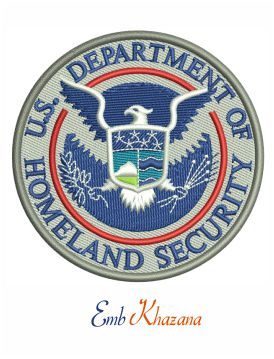 US Department of homeland security logo embroidery design