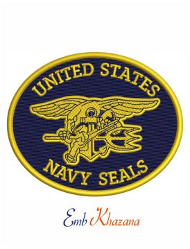 US navy seal logo embroidery design