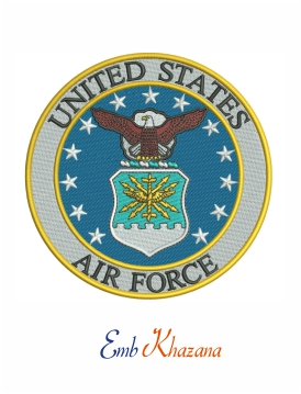 United States Air Force embroidery design