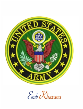 United States Army embroidery design