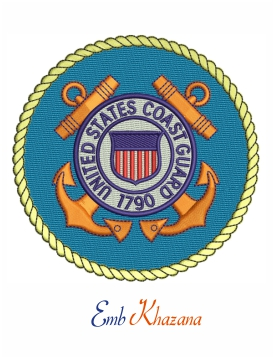 United States Coast Guard embroidery design