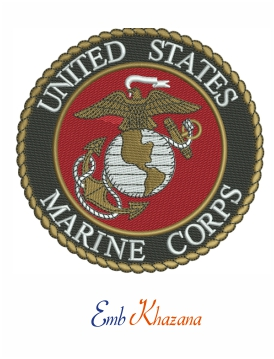 United States Marine Corps Logo embroidery design