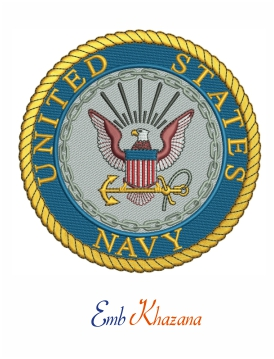 united states navy logo embroidery design
