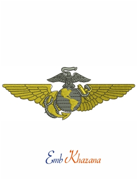 United States marine embroidery design