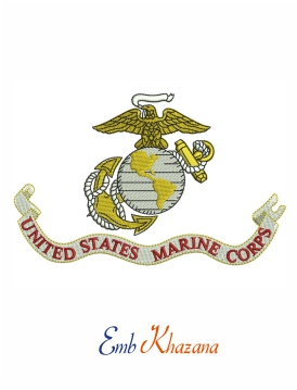 flag of the united states marine corps embroidery design