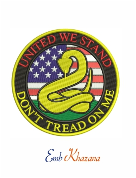 United We Stand Dont Tread on Me embroidery design