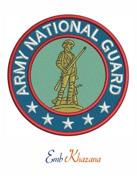 United states army national guard embroidery design