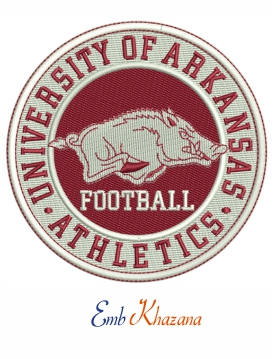 University Of Arkansas embroidery design