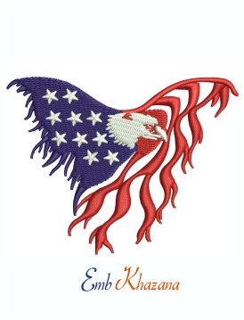 USA Eagle Symbol Machine Embroidery Design