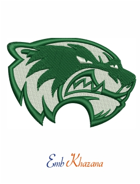 Utah Valley Wolverines logo embroidery design