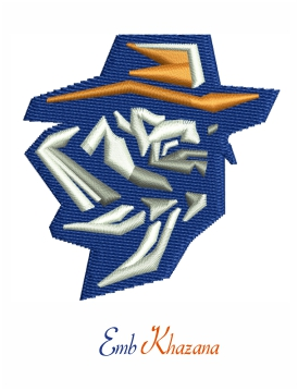 utep miners football logo embroidery design