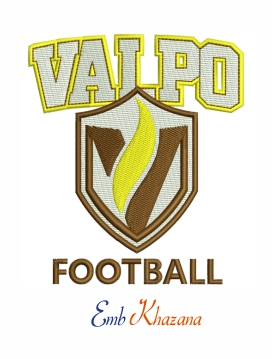 Valparaiso Crusaders Football Logo