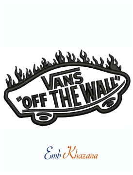 Vans of The Wall car Machine Embroidery Design
