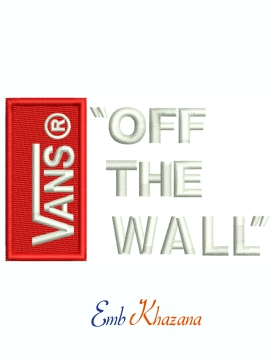 Vans of The Wall Logo Embroidery Design