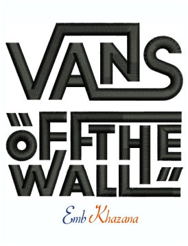 Vans of The wall Machine Embroidery Design