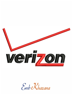 Verizon Logo embroidery design