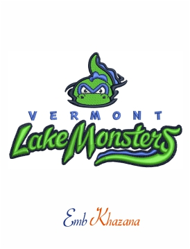 Vermont lake monsters logo embroidery design