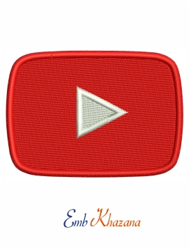 Video player icon embroidery design