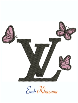 Louis Vuitton With Butterfly Embroidery Design