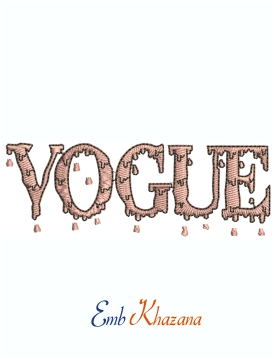 Vogue Drip logo machine embroidery design