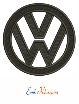 Volkswagen Logo Embroidery Design