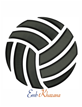 Volleyball 3d Puff Embroidery Design