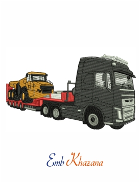 Volvo CBT lorry embroidery design