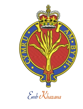Welsh Guards Crest Embroidery Design