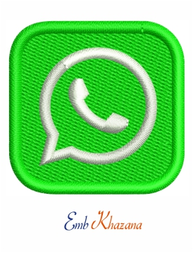 Whatsapp logo embroidery design