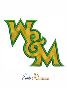 William and mary tribe logo embroidery design