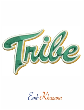 william and mary tribe football logo embroidery design