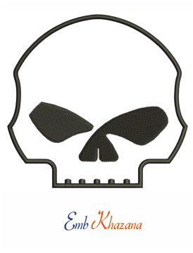 Willie g skull embroidery design