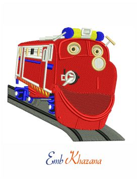 Wilson train embroidery design