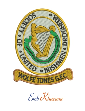 Wolfe Tones Gfc Embroidery Design