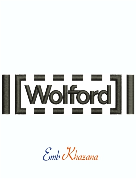 Wolford Brand Logo Machine Embroidery Design