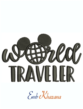 World Traveler Disney World Epcot Machine Embroidery Design