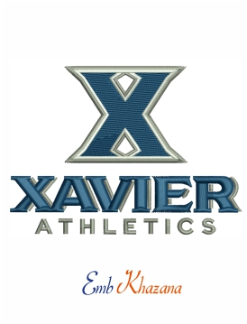 xavier athletics logo embroidery design