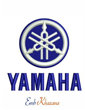 Yamaha logo Embroidery pattern