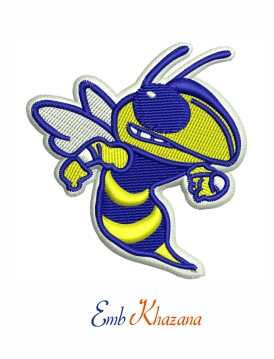 Greenville Yellow Jacket Football embroidery design