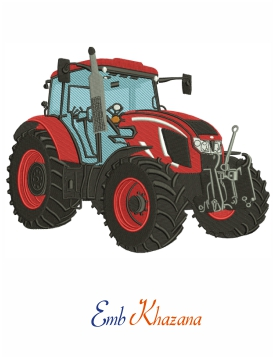 Zetor Tractor Embroidery Design