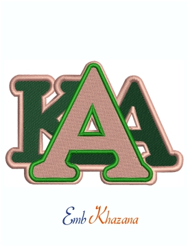 Alpha Kappa Alpha Chenille Stacked Machine Embroidery Design