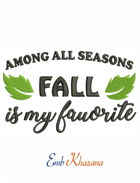 Among all seasons fall is my favorite machine embroidery design