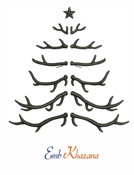 Antler Tree Embroidery Design