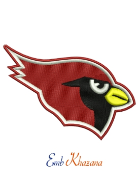 Arizona Cardinals Logo Embroidery Design
