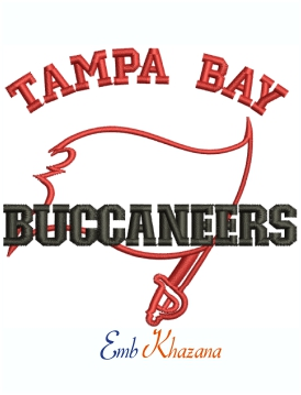 Tampa Bay Buccaneers Logo Machine Embroidery Design