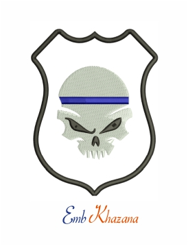 Punisher skull machine embroidery design