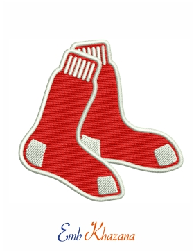 Boston Red Sox logo embroidery Pattern