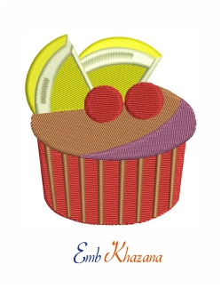 Cake Embroidery Design