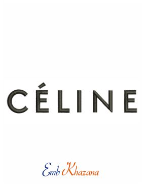Celine Logo Embroidery Design
