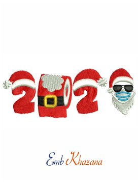 Christmas 2020 embroidery design for machine
